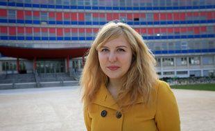 Manon Tendil, laurare du concours d'écriture lancé par l'astronaute Thomas Pesquet / ESA sur le Petit Prince de Saint-Exupery. Strasbourg le 13 avril 2017.