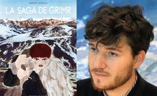 La couverture de La saga de Grimr et son auteur Jérémie Moreau