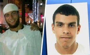 Photomontage montrant Ayoub El Khazzani (gauche) et Sid Ahmed Ghlam.