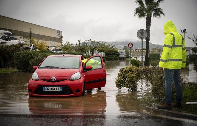 Les inondations de novembre 2019 à Cannes-Mandelieu, dans les Alpes-Maritimes.