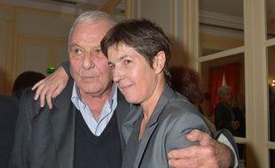 Philippe Sollers et Christine Angot lors de la remise du prix Décembre le 2 novembre 2015 à Paris