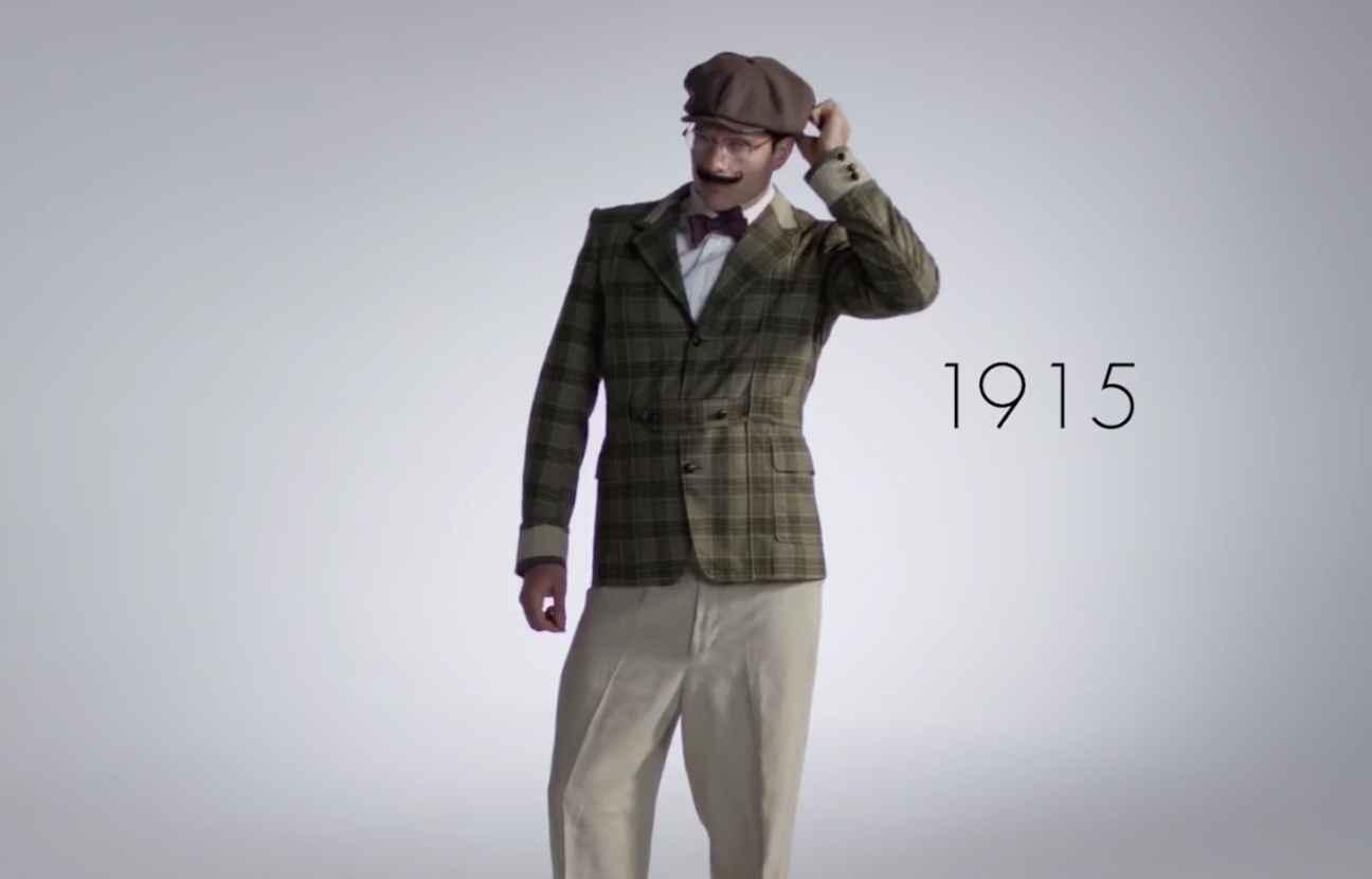 video 100 ans de mode masculine en 3 minutes. Black Bedroom Furniture Sets. Home Design Ideas