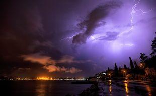 Un orage (illustration)