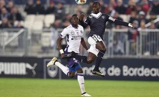 Lors du match contre Toulouse le 21 janvier.