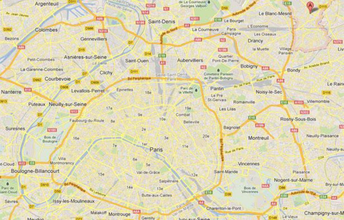 Google Maps d'Aulnay-sous-Bois (Seine-Saint-Denis). – 20minutes.fr