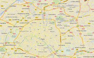 Google Maps d'Aulnay-sous-Bois (Seine-Saint-Denis).