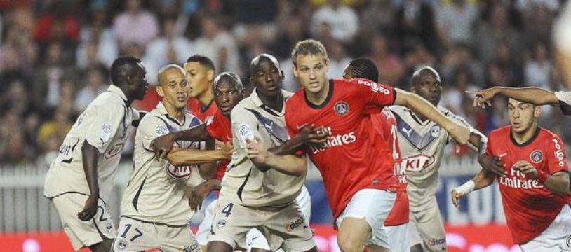 Mathieu Bodmer lors de PSG-Bordeaux, le 22 août 2010, au Parc des Princes.