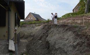 Glissement de terrain àLochwiller (Bas-Rhin).