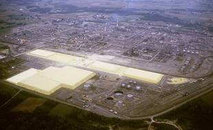 illustration de l'usine de Lacq.