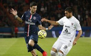 Javier Pastore a délivré trois passes décisives lors de la victoire du PSG contre Metz (3-1), le 28 avril 2015.