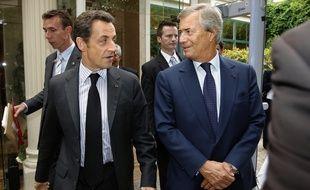 Nicolas Sarkozy et Vincent Bolloré, en 2008, au 10e anniversaire de la fondation Fondation de la 2ème Chance.