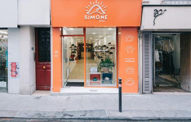Le concept store Simone Headwear, au 60 rue de Cléry, dans le 2e arrondissement de Paris.