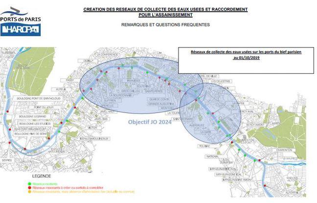Une vingtaine de points de raccordement doit être créée d'ici 2022 par Haropa-Ports de Paris.