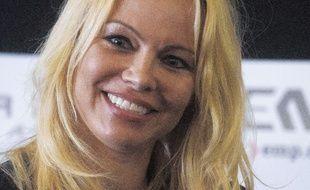 Pamela Anderson, le 30 juillet 2017, à Londres.