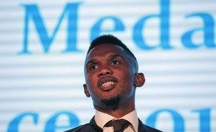 Samuel Eto'o en mars 2015 à Londres.