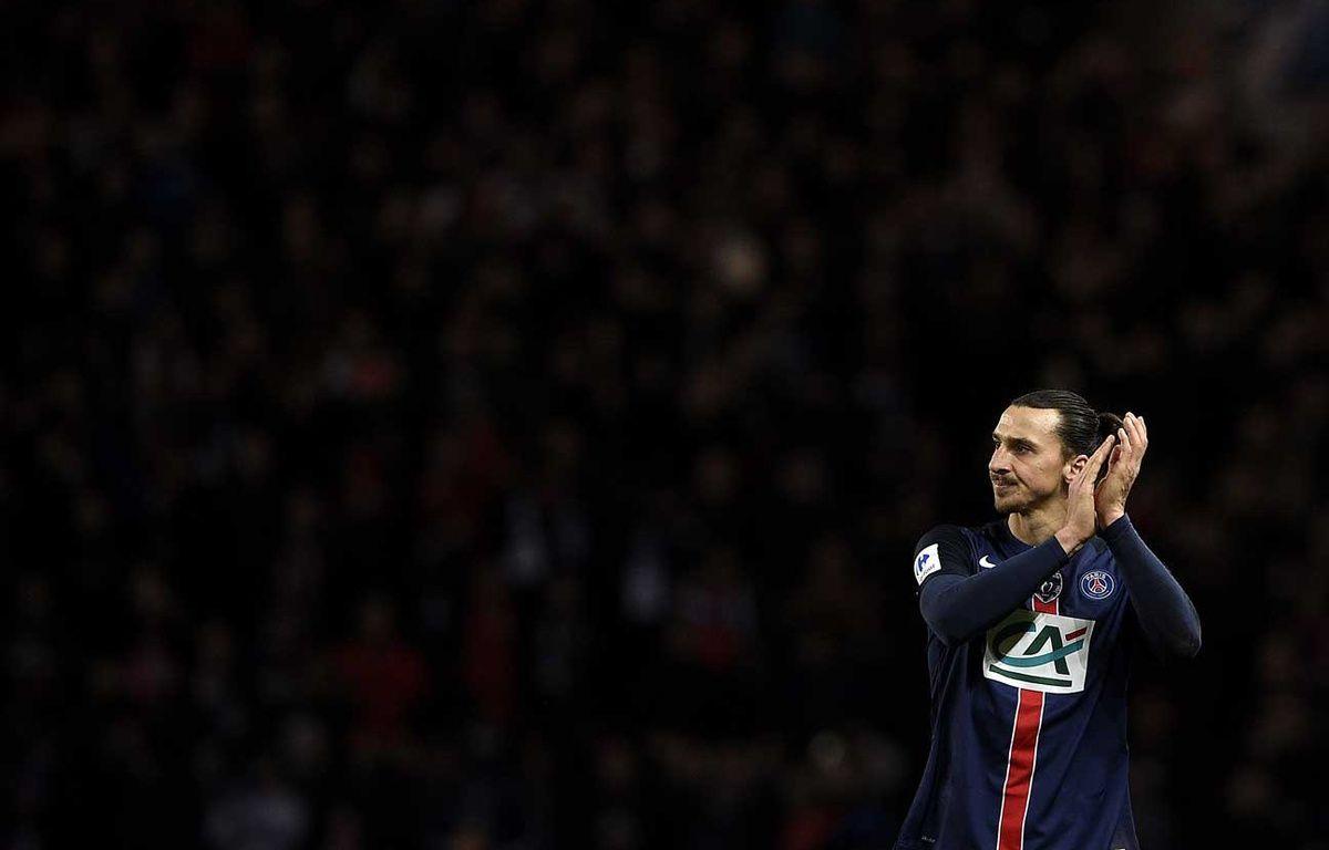 Zlatan Ibrahimovic à la fin de la rencontre PSG-OL du 10 février 2016  – FRANCK FIFE / AFP