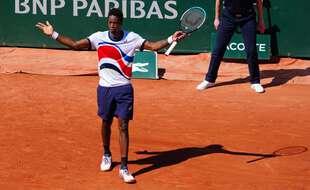 Gaël Monfils lors de son premier tour face à Ramos-Vinolas à Roland-Garros.