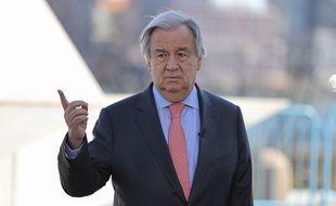 Le secrétaire général de l'ONU Antonio Guterres à New York, le 9 mars 2020.
