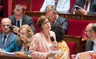La secrétaire d'Etat, Christelle Dubos, à l'Assemblée nationale le 11 juin 2019.