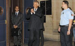 Dominique de Villepin à son arrivée à l'audience du procès Clearstream le 30 septembre 2009.