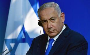Le Premier ministre israélien Benjamin Netanyahou lors d'une conférence de presse commune avec la chancelière allemande Angela Merkel à Berlin, le 4 juin 2018.