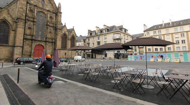 La place Saint-Germain à Rennes a retrouvé quelques couleurs. – C. Allain / APEI / 20 Minutes