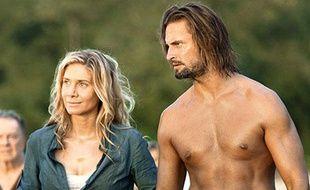 Sawyer et Juliet dans le premier épisode de la saison 5 de «Lost».