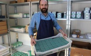 Fabien Meaudre utilise la méthode de saponification à froid pour sa production.