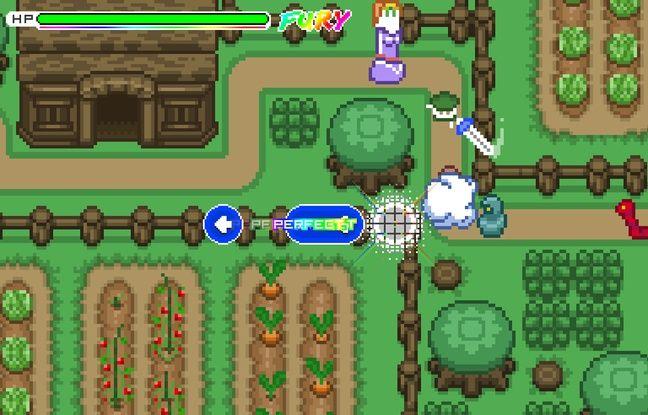 Le jeu Old School Musical s'inspire de plein de jeux, ici, de Zelda.
