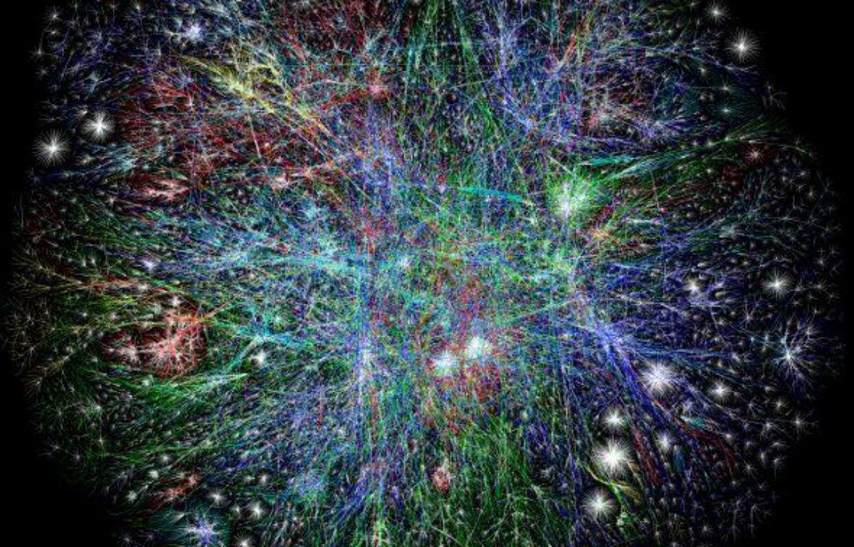 Une carte partielle d'Internet – opte.org