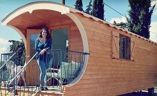 Audrey Satta a transformé sa roulotte en salon de beauté écologique.