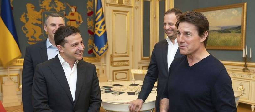 Tom Cruise a rencontré le président ukrainien Volodymyr Zelensky fin septembre 2019.