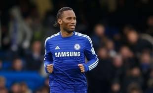 Didier Drogba lors du match Chelsea-West Ham le 26 décembre 2014.
