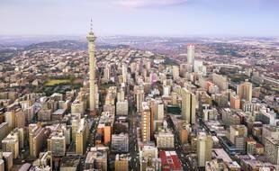 Le centre-ville de Johannesburg (illustration).