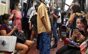 Le métro parisien en juillet 2020.