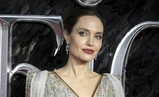 L'actrice américaine Angelina Jolie à la première européenne de