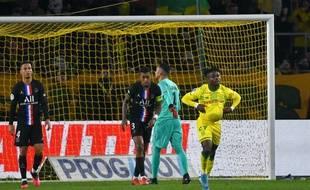 Après le but de l'angoisse marqué par le Nantais Moses Simon...