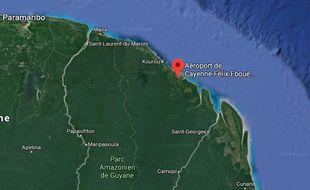 L'appareil avait décollé de l'aéroport de Matoury, près de Cayenne.