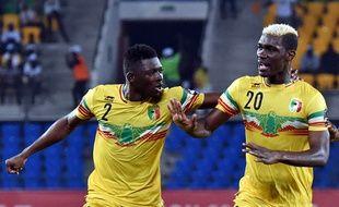 Hamari Traoré (n°2), ici lors de la Coupe d'Afrique des nations 2017 avec le Mali.