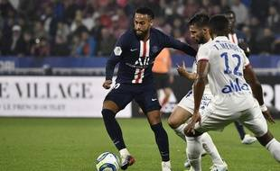 Neymar au Parc OL contre Lyon, le 22 septembre 2019.