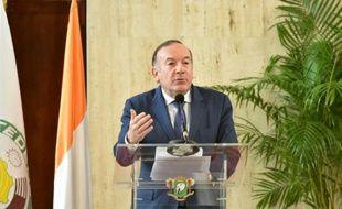Le président du Medef Pierre Gattaz à Abidjan le 28 avril 2016