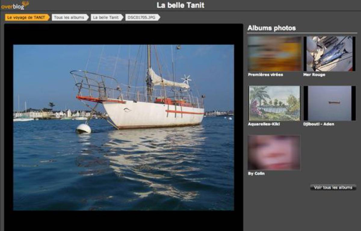 Capture d'écran du blog des propriétaires du voilier «Tanit» capturé le 4 avril 2009 par des pirates au large des côtes somaliennes. – tanit.over-blog.fr