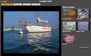 Capture d'écran du blog des propriétaires du voilier «Tanit» capturé le 4 avril 2009 par des pirates au large des côtes somaliennes.