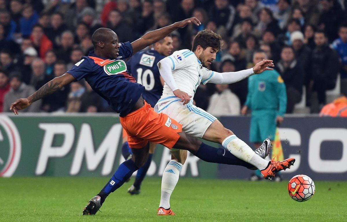 Lucas Silva à Marseille le 20 janvier, lors de la réception de Montpellier en Coupe de France. – ANNE-CHRISTINE POUJOULAT / AFP