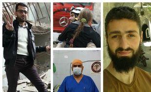 Modar, Ismail, Mohammad et Wissam vivent tous les quatre dans la partie assiégée de la ville d'Alep.