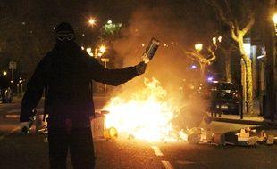 Des supporters ont manifesté devant le commissariat de Bastia dimanche soir.