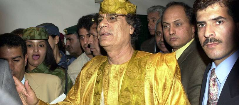 Mouammar Khadafi.