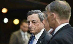 Mario Draghi, président de la Banque centrale européenne, le 22 juin 2015 à Bruxelles