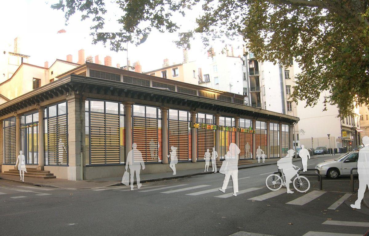 La halle de la Martinière à Lyon devrait rouvrir ses portes à l'automne 2017. – Etic