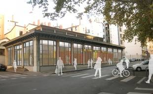 La halle de la Martinière à Lyon devrait rouvrir ses portes à l'automne 2017.